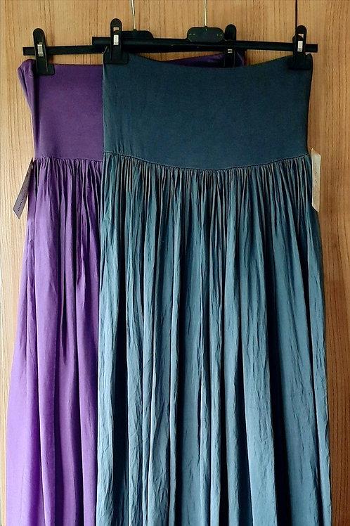 Lange rok met zijde, maat TU, grijs