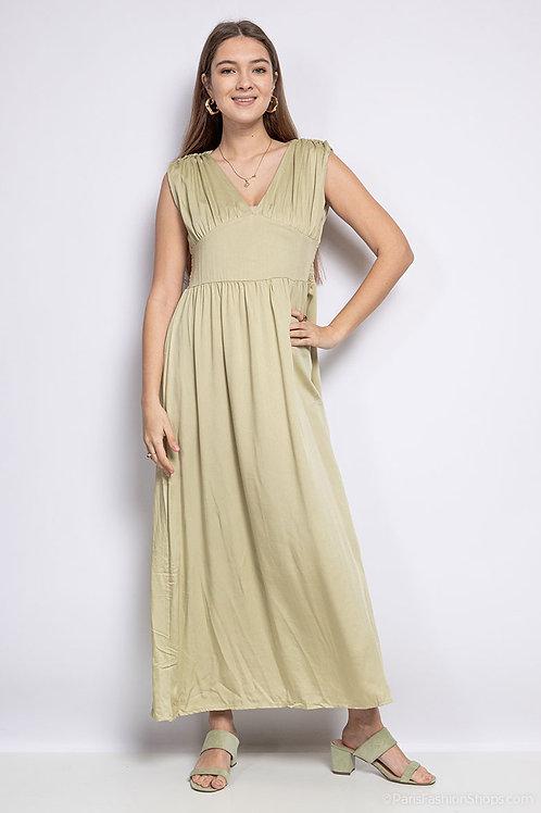 Lange jurk in 100% katoen, maat S/M en L/XL, verschillende kleuren