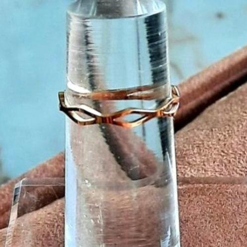 Ring in rosé-goudkleur, fijne schakel