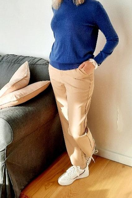 Klassieke broek in beige, maten S tem XL