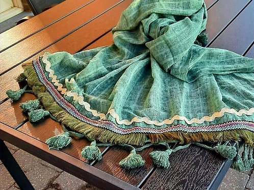 Prachtige groene sjaal BY JAM