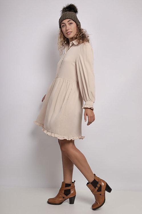 Beige jurk  van CONTEMPLAY maat L