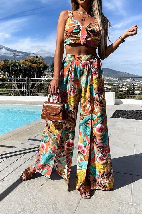 Tropisch setje in zonnige kleuren, maat TU
