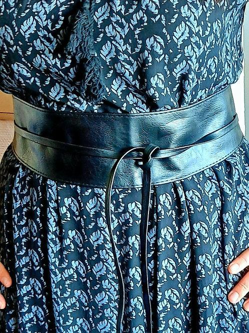 Trendy knoop riem, kleur zwart