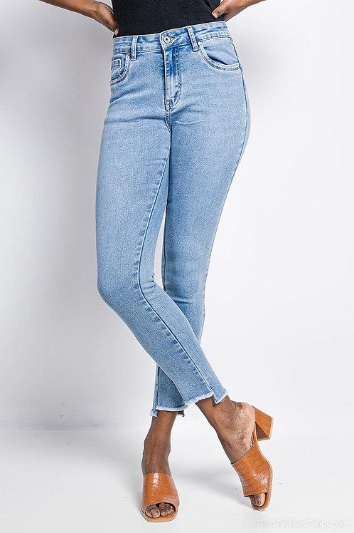 Trendy jeans met aparte boord, maten 34 tem 42