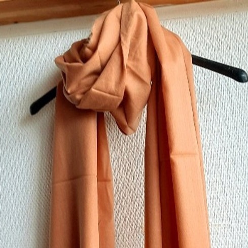 CASHMERE TOUCH sjaal - superzacht - kleur abrikoos