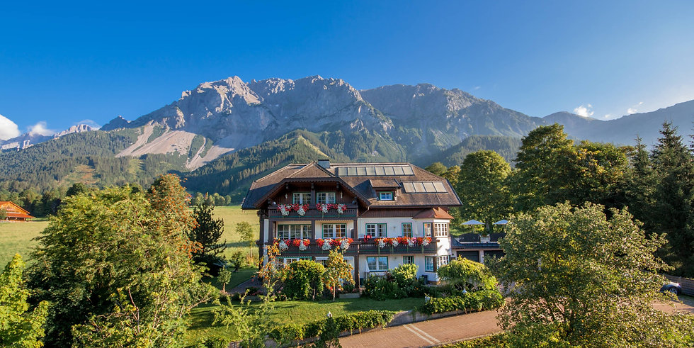 Panorama Außenansicht - Appartement Haus Sonne - Ramsau am Dachstein - Schladming Dachsten - Ferienwohnungen