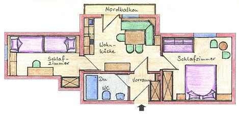 Grundriss Sonnen-Appartement 7
