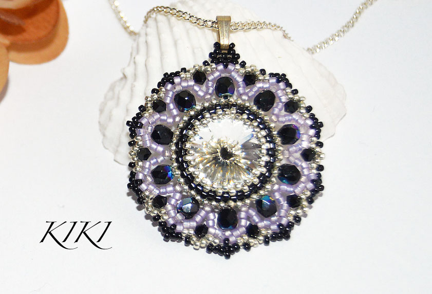 Purple crystal pendant