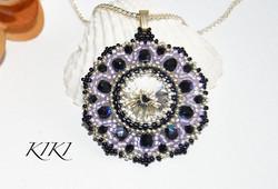Purple crystal pendant