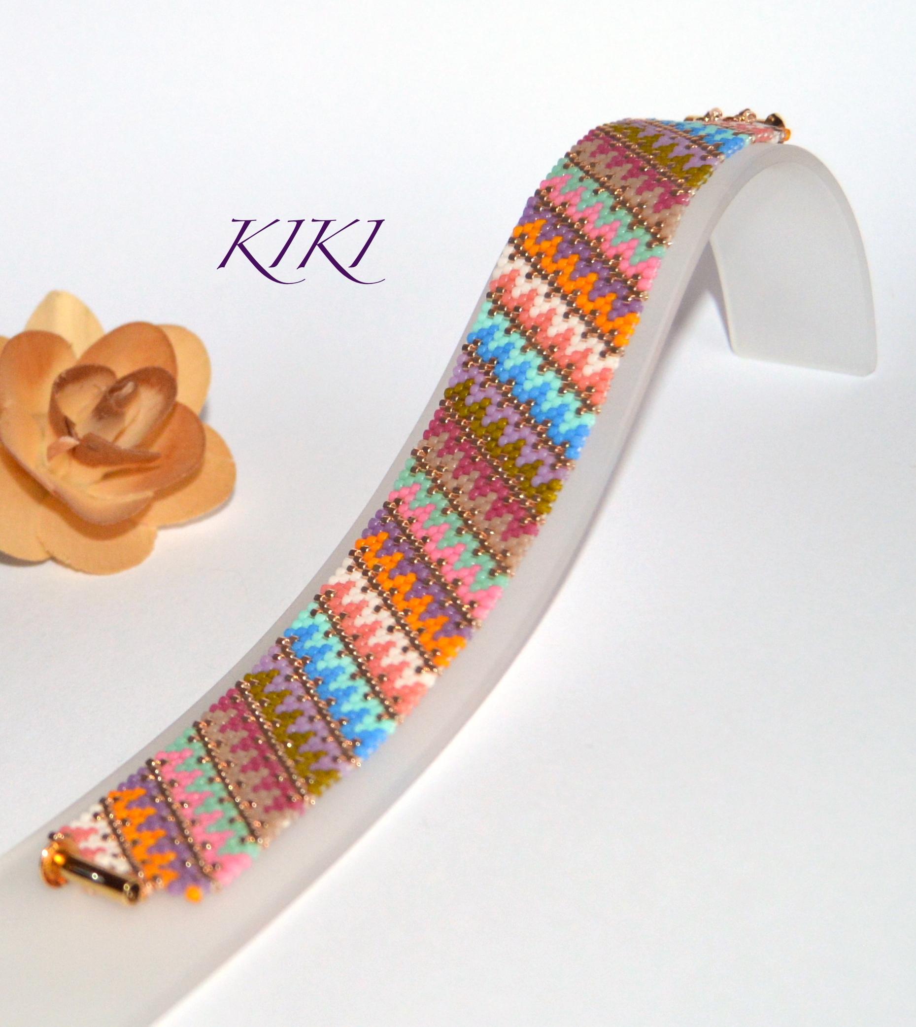 Fiesta peyote bracelet