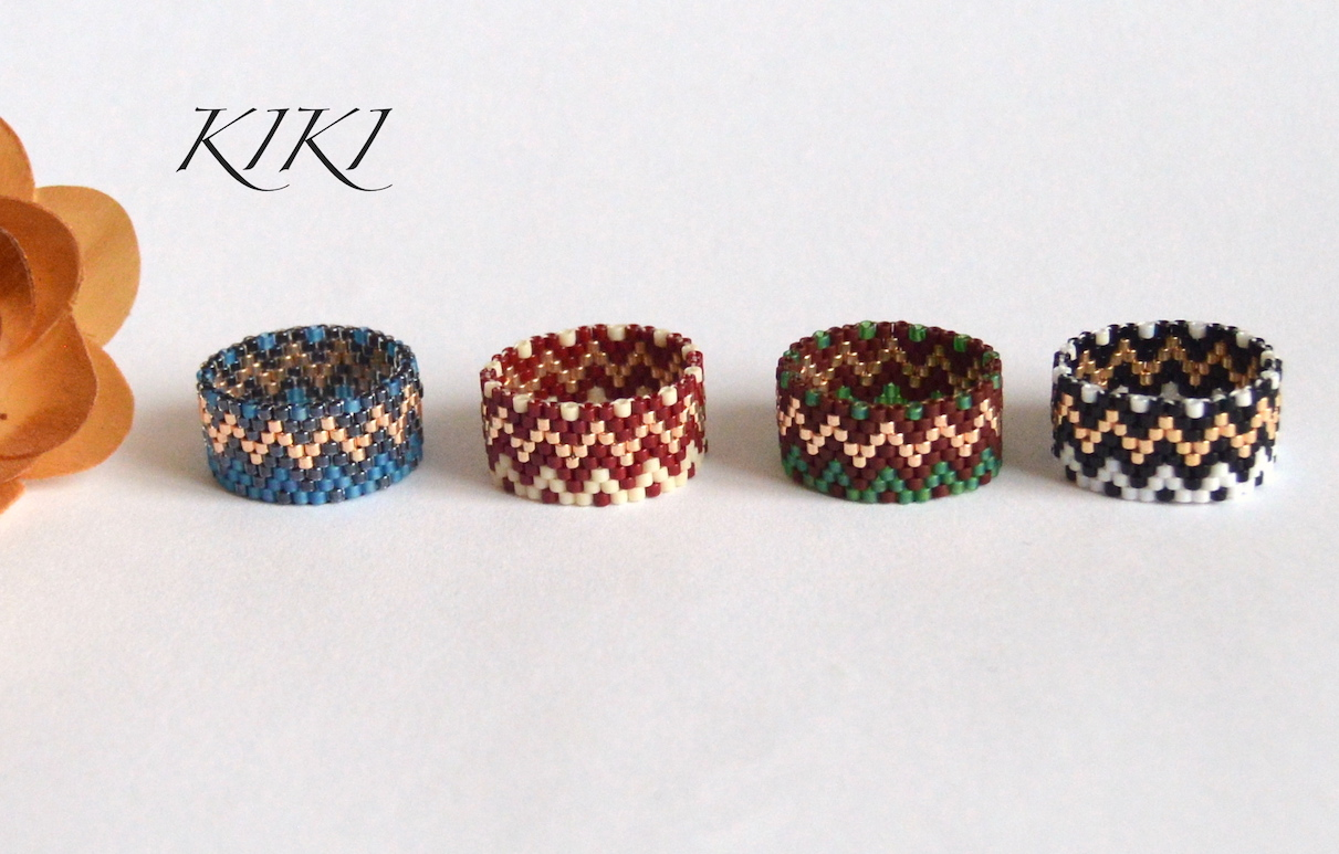 Golden zigzag rings