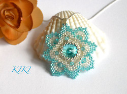 Turquoise star pendant