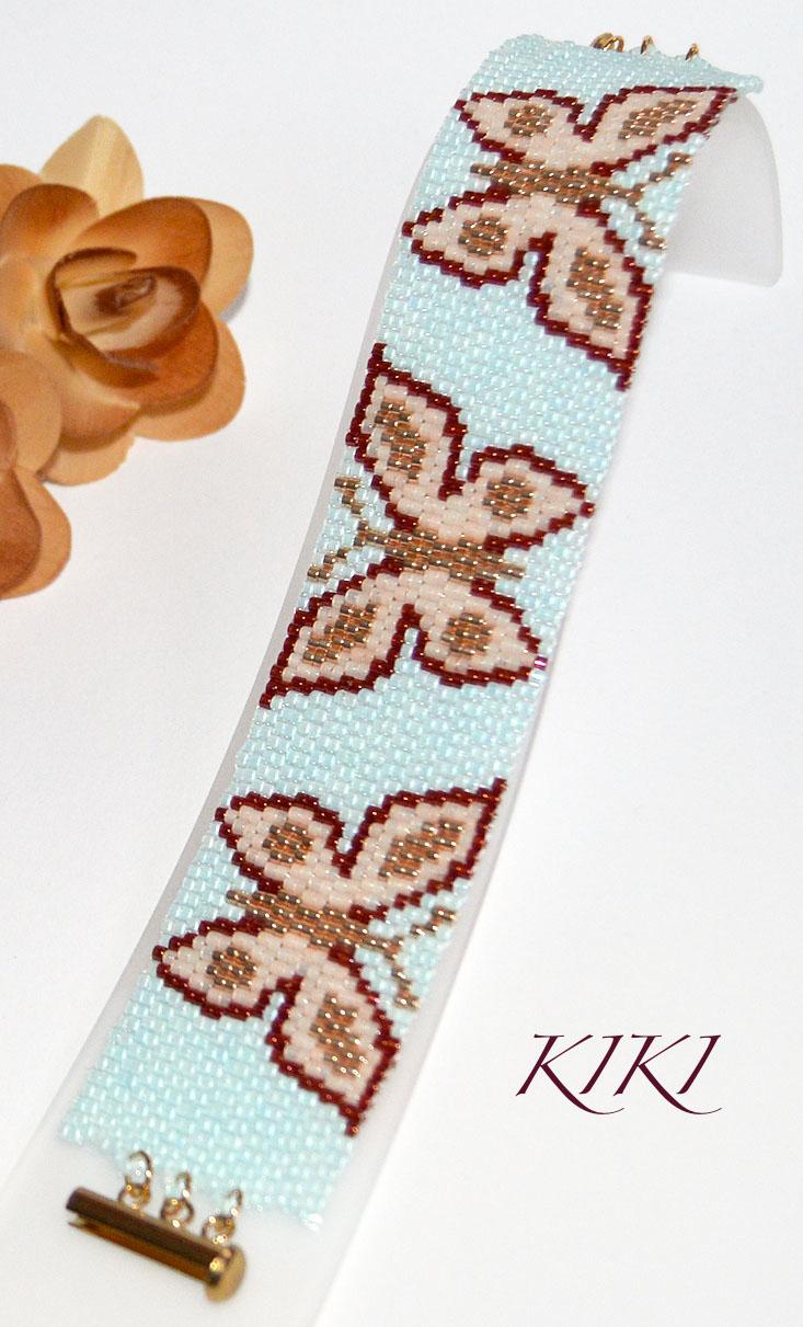 Butterflies peyote bracelet