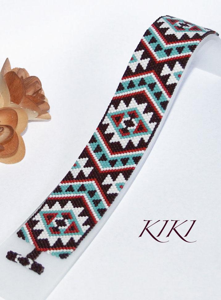 Navajo styled peyote bracelet