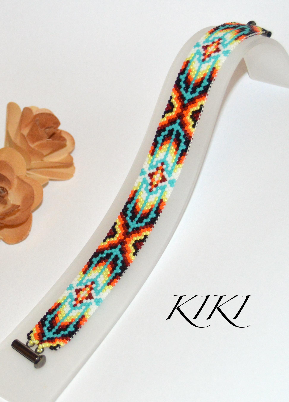 Ethnic styled peyote bracelet