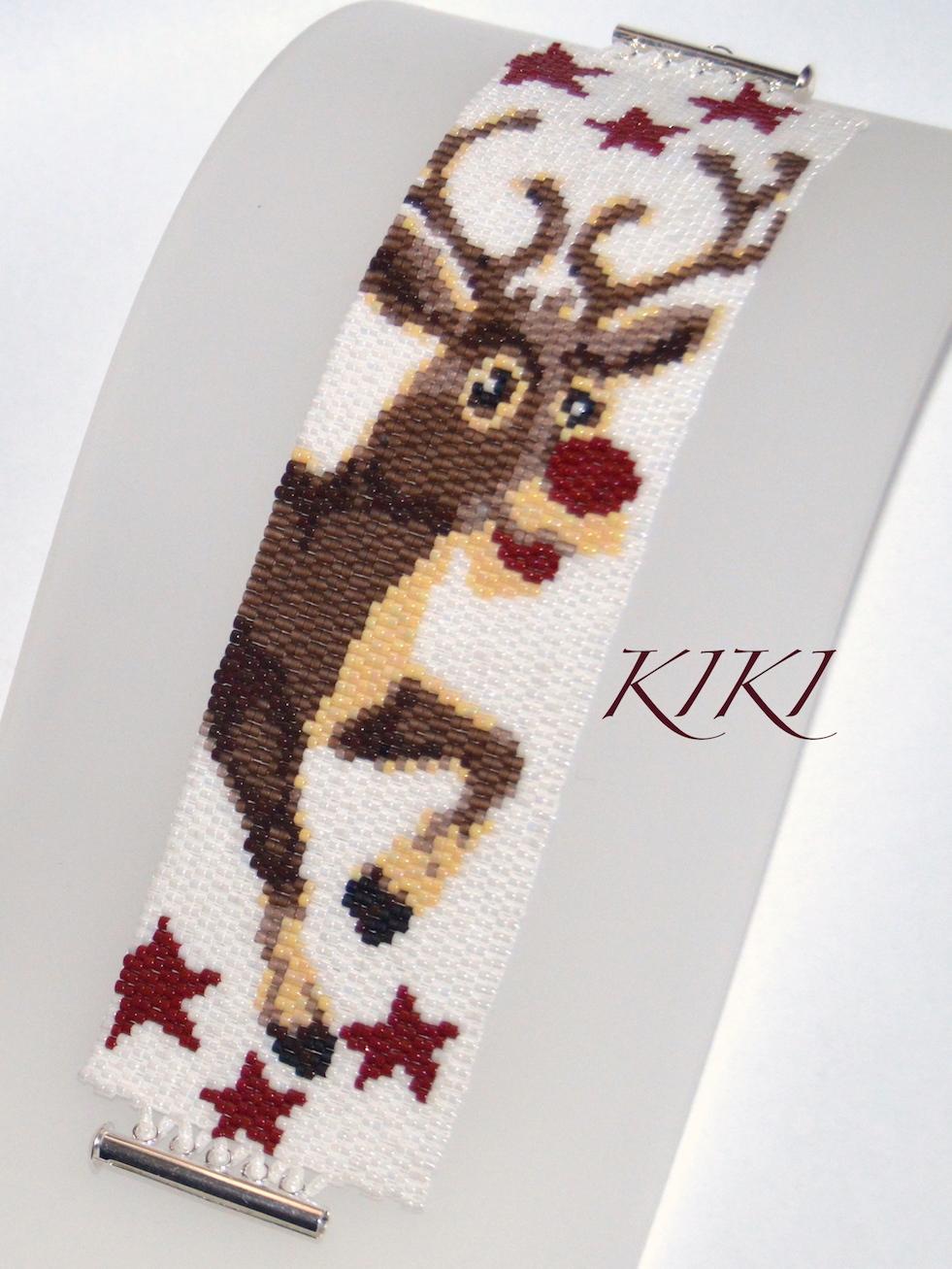 Rudolph peyote bracelet