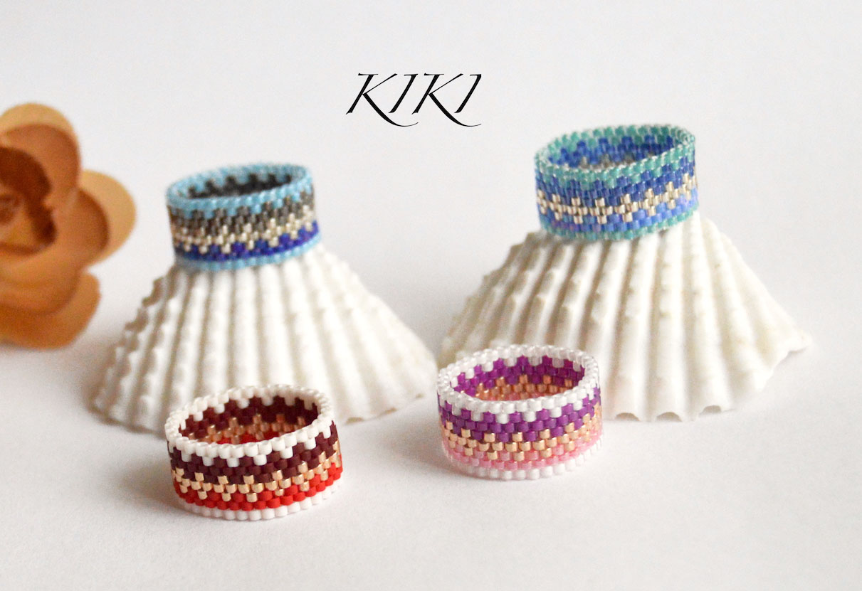 Zigzags peyote rings