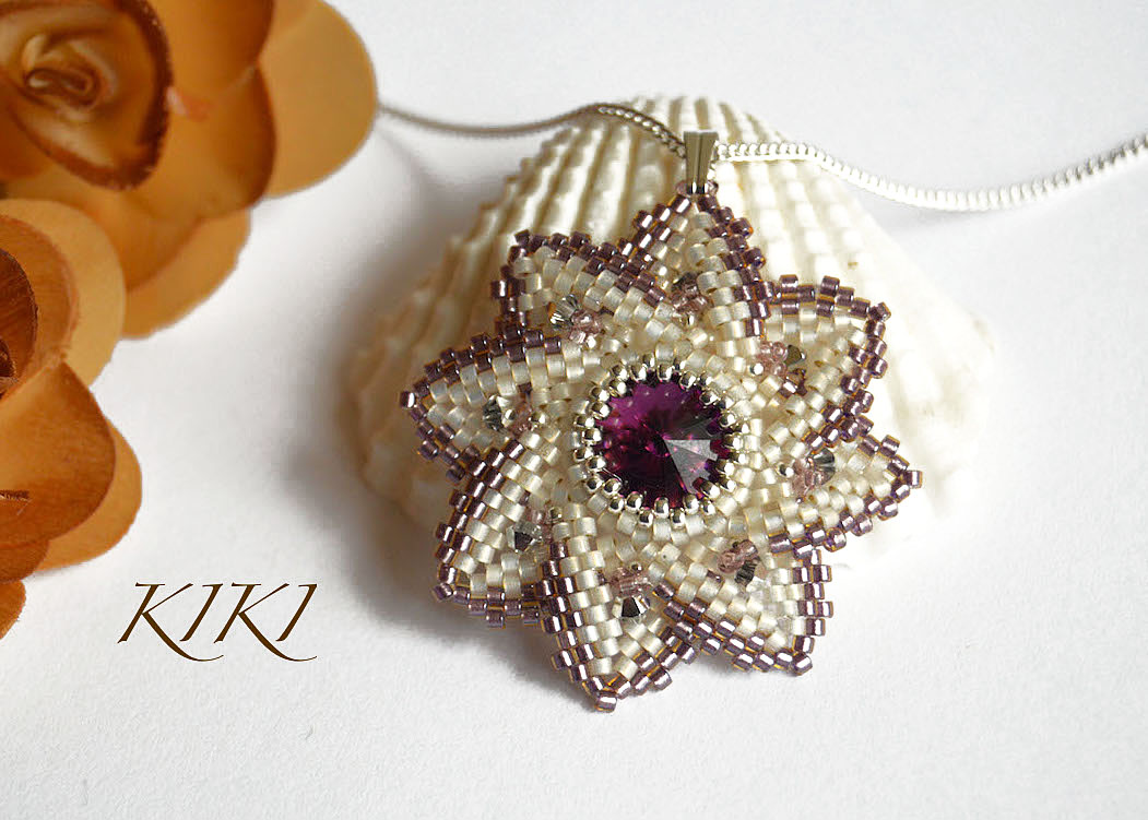 Lace like pendant
