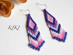 Blue and pink long