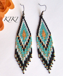 Golden turquoise long