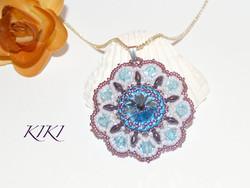 Aqua flower pnedant