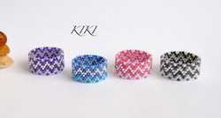 Silver zigzag rings