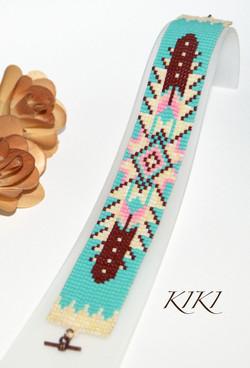 Ethnic theme Loom bracelet
