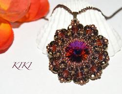Vulcano flower pendant