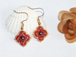 Red clover earrrings