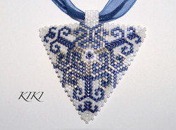 Blue swirls pendant