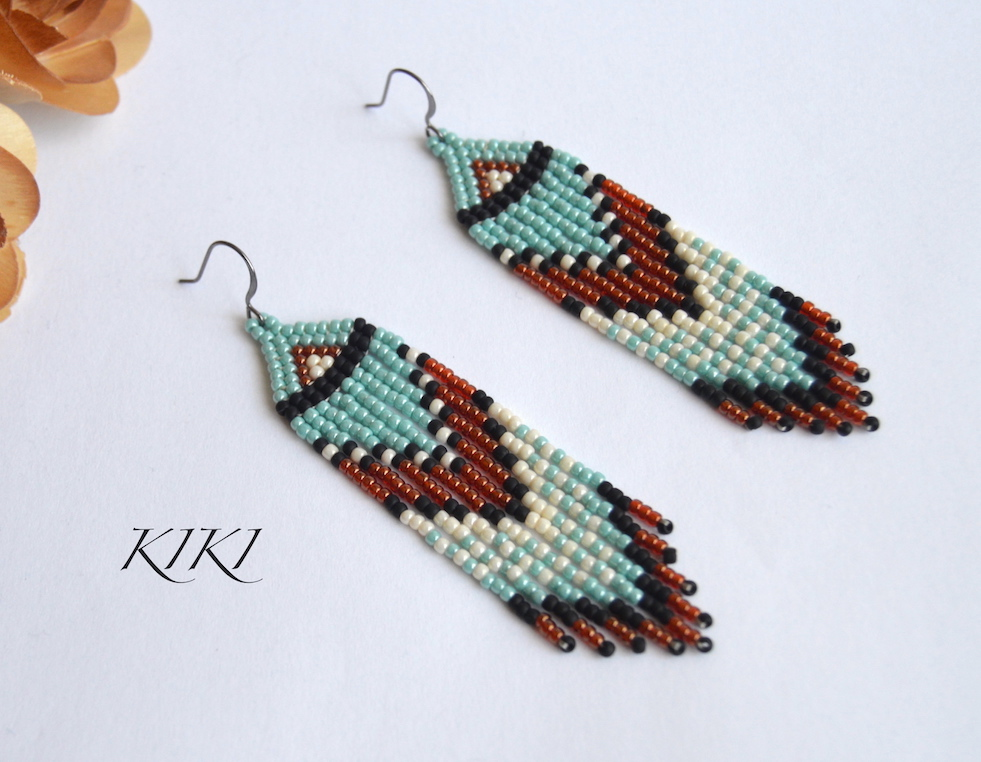 Long fring earrings