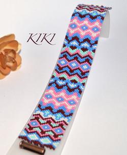 Peaks peyote bracelet