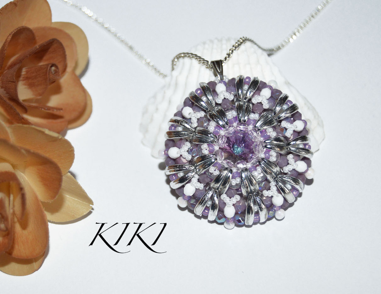 Purple round pendant