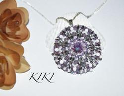 Purple round pendant