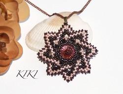 Peach bronze pendant
