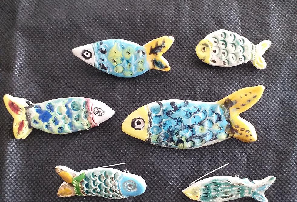 Brosche Fisch