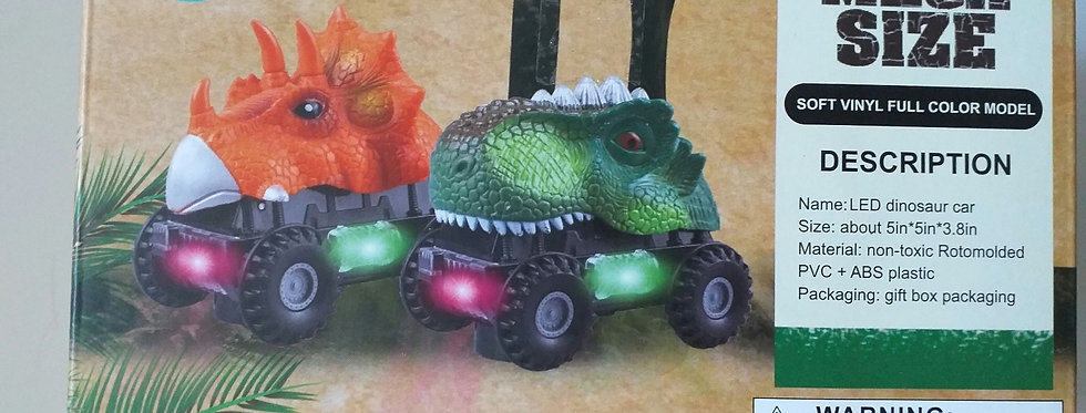 Dinosaurier-Autos für Kinder (batteriebetrieben)