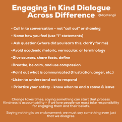 Engaging in Kind Dialogue Across Differe