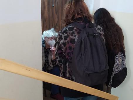 Dror High School Students Visit Haifa Seniors