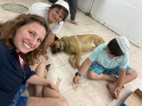 Dror Israel educators in Ashkelon volunteer in bomb shelters