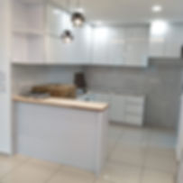 Kitchen With Aluminium Glass Door, Penang(Skilled decor&Design)