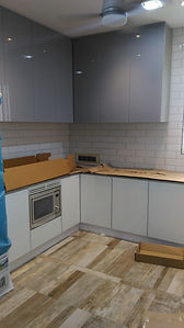 Kitchen with kompactplus table top Penang,Skilled decor & Design with Kom