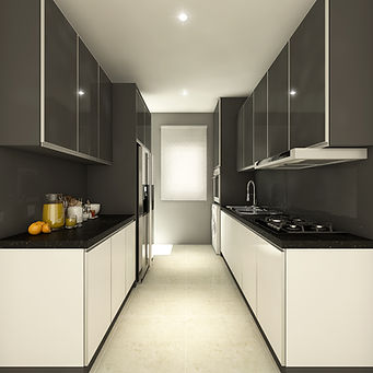 modern kitchen with mix color(skilled decor&design)