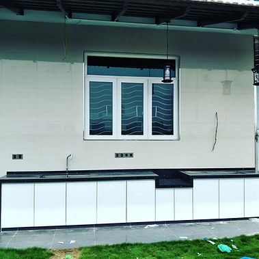 outdoor kitchen with concrete base Penang (skilled decor)