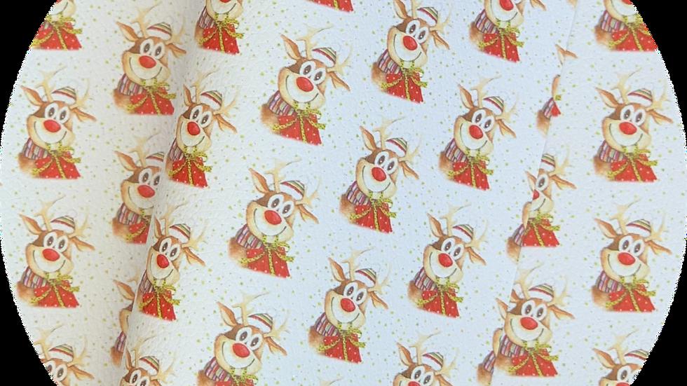 Reindeer & Presents ~ Luxe Grain  Litchi