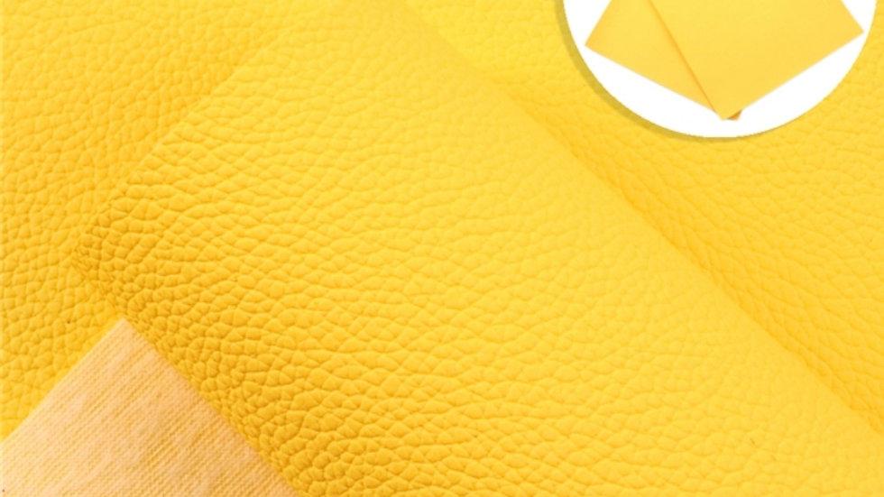 Fine Luxe Grain Litchi ~ Yellow