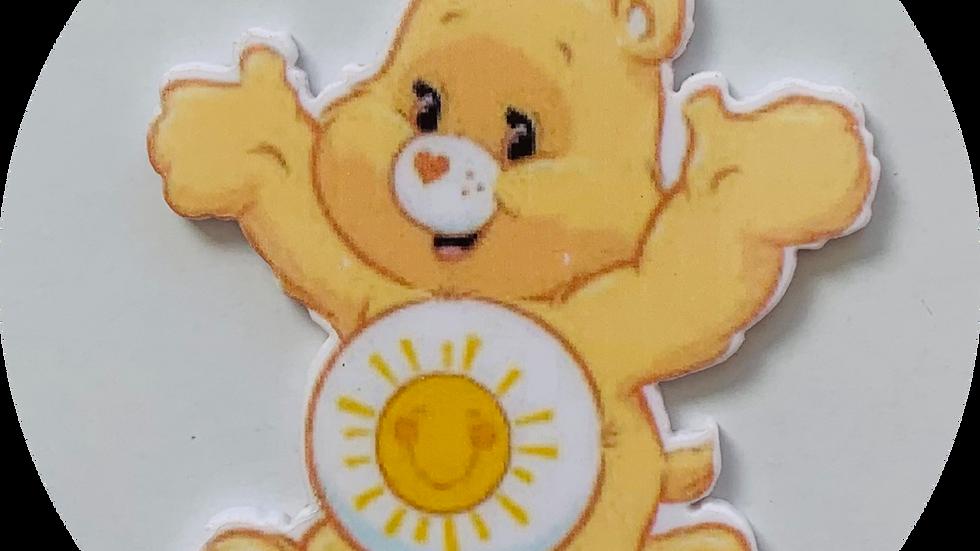 Yellow care bear planar Resin