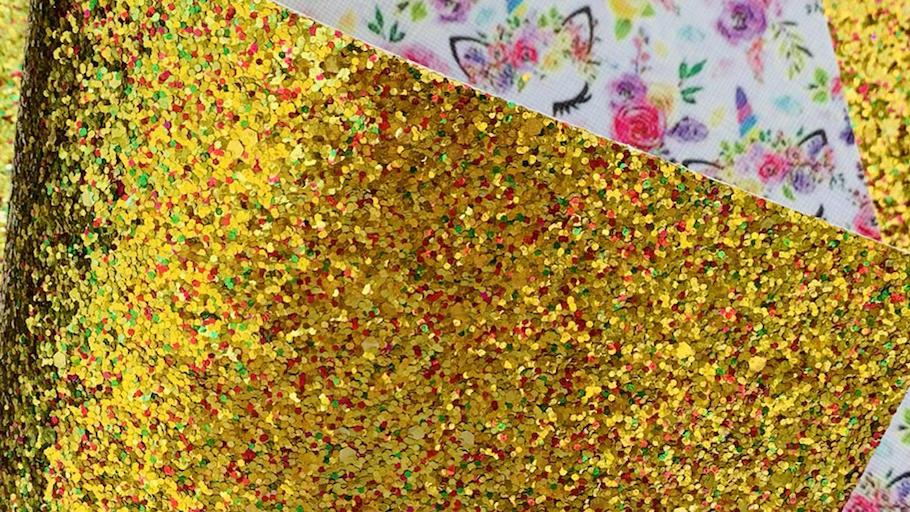 Golden Unicorns double sided chunky glitter