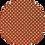 Thumbnail: Luxe Glitter Polka Dots ~Orange ~ 1.05mm Thickness